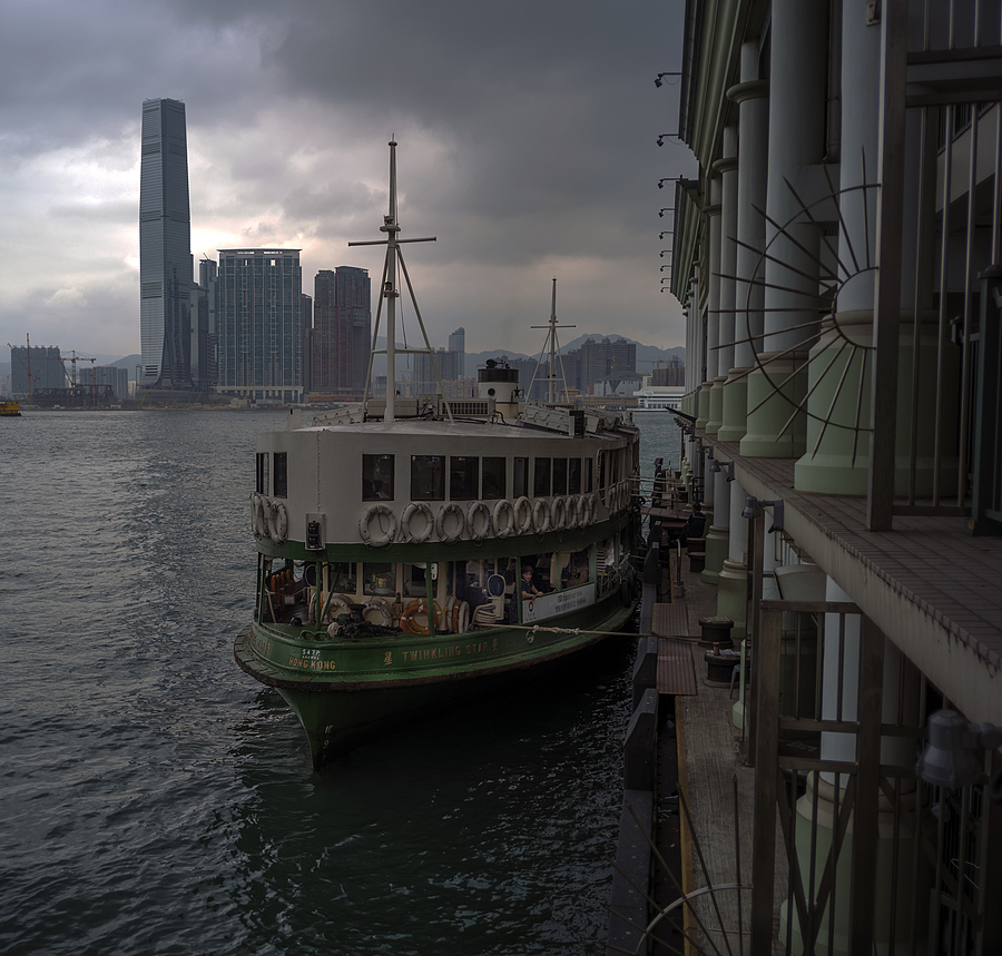Star Ferry and clouds | LEICA SUMMICRON 35MM F2 ASPH <br> Click image for more details, Click <b>X</b> on top right of image to close